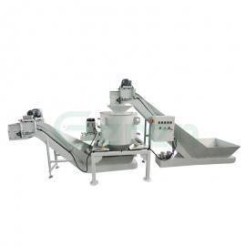 金属屑甩干机输送系统AG官方下载,铝屑脱油机提升输送设备