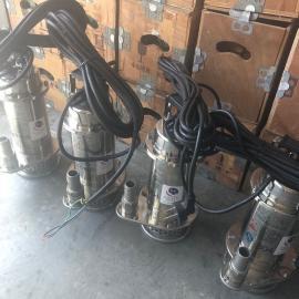 鄂泉不锈钢养殖用潜水排污泵25WQ3-9-0.37S