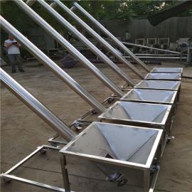 六九重工装罐倾斜式绞龙上料机 长度定制不锈钢螺旋输送机Lj8