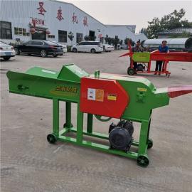 圣泰自动进料巨菌草粉碎机 玉米杆破碎机热卖 9ZR-15