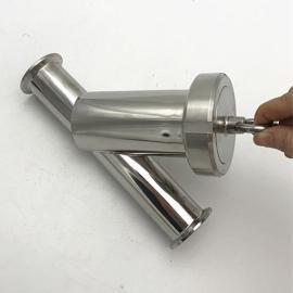 巨捷不锈钢卫生级法兰Y型过滤器