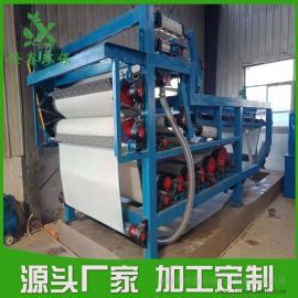 污泥浓缩脱水处理设备 真空带式压滤机 污泥脱水机――隆鑫环保