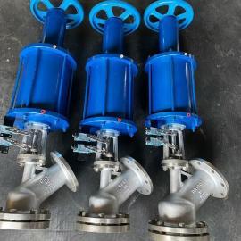 三精气动不锈钢上展式放料阀HG5-81-2