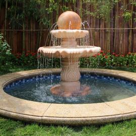 水云间景观雕塑喷泉,水钵、风水球小型假山流水喷泉水景设计施工定制