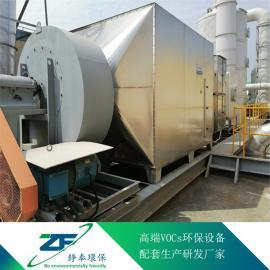 塔式活性炭净化器,胶水行业废气净化器,恶臭废气活性炭吸附箱铮奉环保ZF-HX-75000
