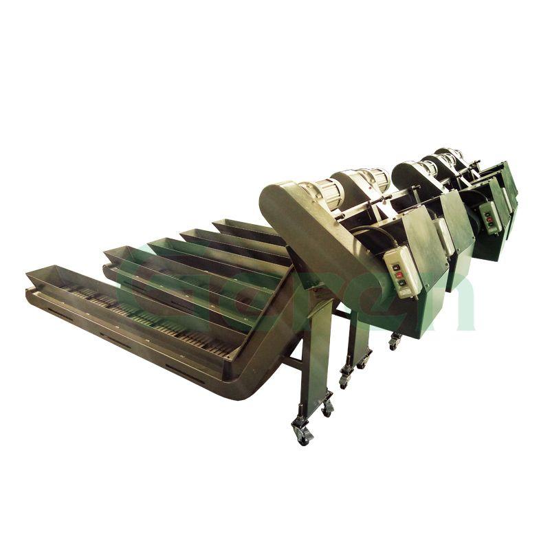铜屑铁屑铝屑输送机链板输送系统可定制款排屑机