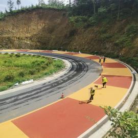 美沥特彩色陶瓷颗粒防滑路面的优点