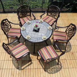 美尚花园桌椅 铁艺一桌六椅 花园户外家具MS-1581