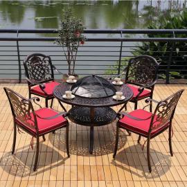 美尚休闲铸铝 铁艺户外烧烤桌椅MS-1583
