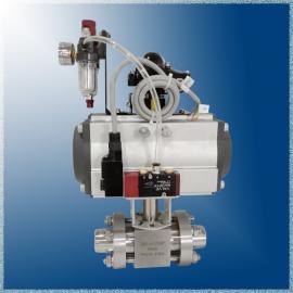 中力气动焊接式球阀Q621N