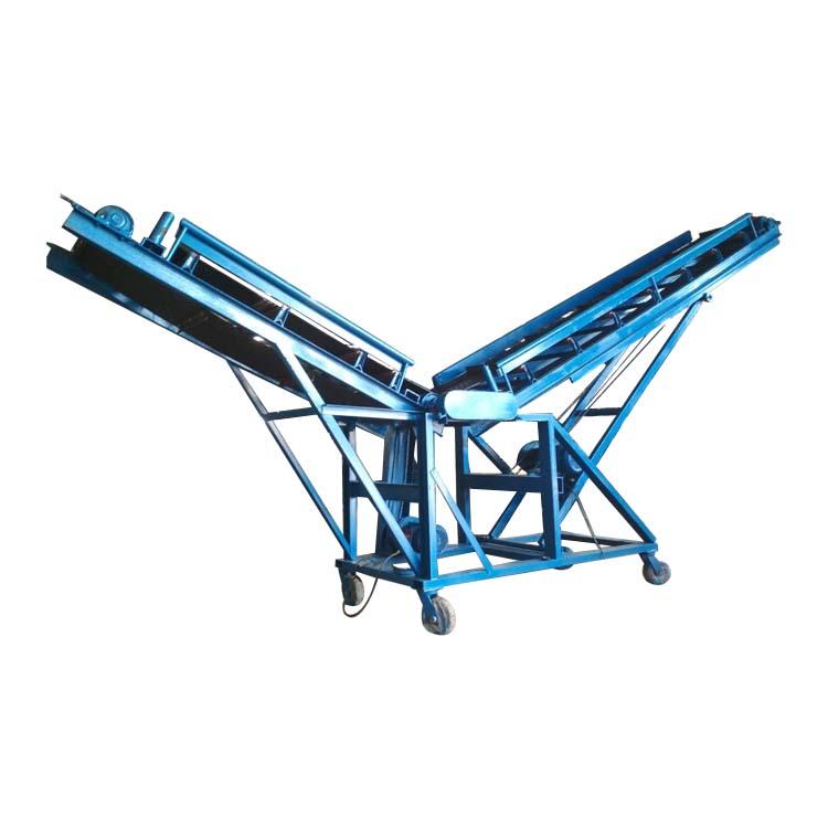 六九重工养殖场饲料装车橡胶皮带机Lj8圆管护栏正反转皮带输送机dy800