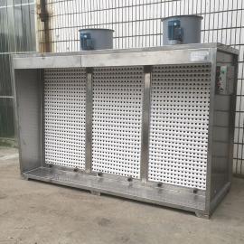 亿星304不锈钢干式喷漆台、双工位干式喷漆柜 YX-PJF3000