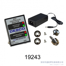 DESCO19243美国接地电阻测试仪接地静电监测器监测人体接地阻抗