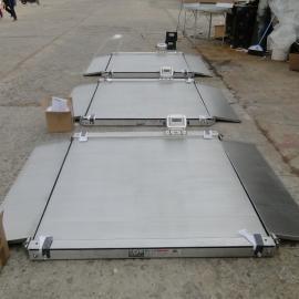 汉衡3吨不锈钢超低地磅 3t带xie坡电zi磅秤scs