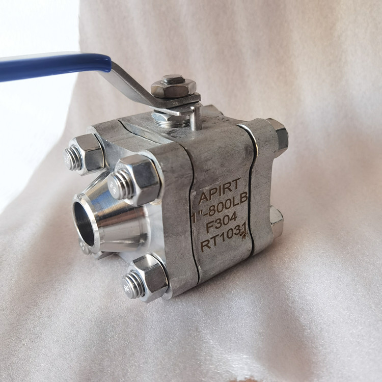 瑞通3PC锻钢高压对焊球阀Q61F-800LB