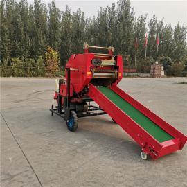 圣泰柴油机带动打捆包膜机图片 牛场用牧草打捆机 机器性能YK5552