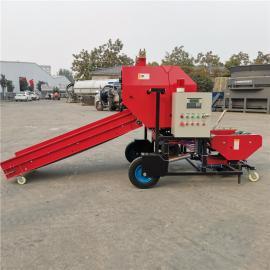 圣泰黄储牛饲料全自动打包机 玉米秸秆打捆机图片 YK5552
