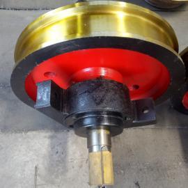 亚重Ø500×150起重机行车轮 天车锻钢车轮组