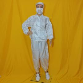 蓝白色条纹洁净防尘分体服