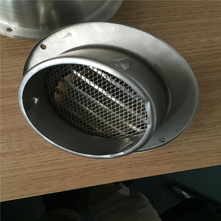 华腾达加厚型不锈钢风帽规格、侧墙防雨罩定制HTD-FK100#