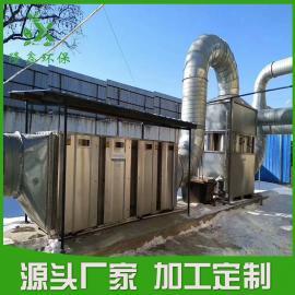 10000风量烤漆房废气处理设备 喷漆废气治理设备――隆鑫环保