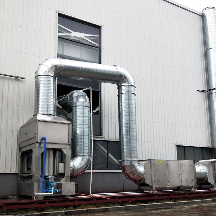 强鑫生产不锈钢气旋喷淋塔环保设备UV光氧工业废气净化系统环保设备