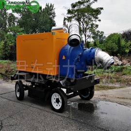 君东防汛8寸柴油机自吸排污泵市政矿用移动柴油机水泵抽污水泥浆杂质JT8-500