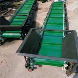 六九重工袋装盐装车皮带输送机 圆管角铁移动式皮带机Lj8dy800