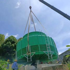 DBNL3-200吨圆形逆流式玻璃钢冷却塔马井