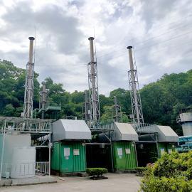 绿联净化垃圾填埋发电厂,沼气发电机尾气氮氧化物治理,排放达标SCR脱硝系统