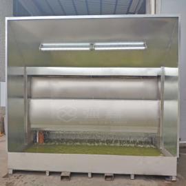 强鑫可移动式水帘喷漆柜盆式喷漆水帘柜小型工件喷漆柜一体式水帘柜QX