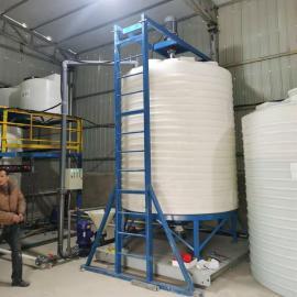 hua社20吨全新ju乙烯水箱污水处理循环水桶全塑化工储罐chan地货源20T