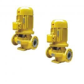 鄂泉立式衬fu管道泵GBF40-125
