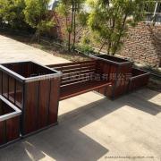 SGPVC组合花箱护栏户外花槽 商业步行街花盆公园防腐种植箱