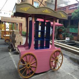 SG时景户外防腐木售货亭 售货实木移动小吃售卖亭