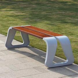 SG时景公园椅户外长椅子长凳休闲庭院凉亭铸铝防腐实木椅
