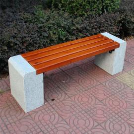 SG时景公园椅户外长椅实木不锈钢长条凳小区广场双人休息长条椅