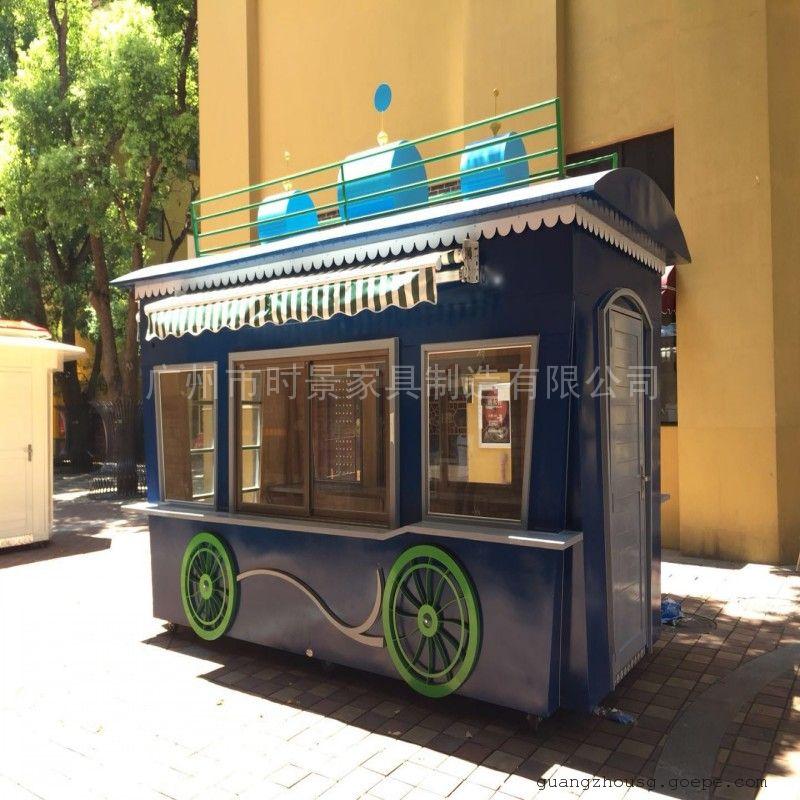SG时景游乐园售货车,卡通售卖亭,商业广场贩卖车