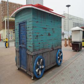SG时景商业街小镇售货亭,欧式贩卖亭,木制活动房