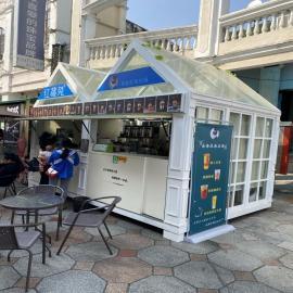 SG�r景家具零售食品餐���木售�亭步行街美食奶茶售�u亭防腐木售票亭