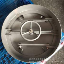 华强不xiu钢槽侧人孔造纸罐专yongDN600