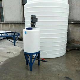 瑞辉小型农药耐酸碱化工桶pejia药箱塑料搅拌桶带电机100L