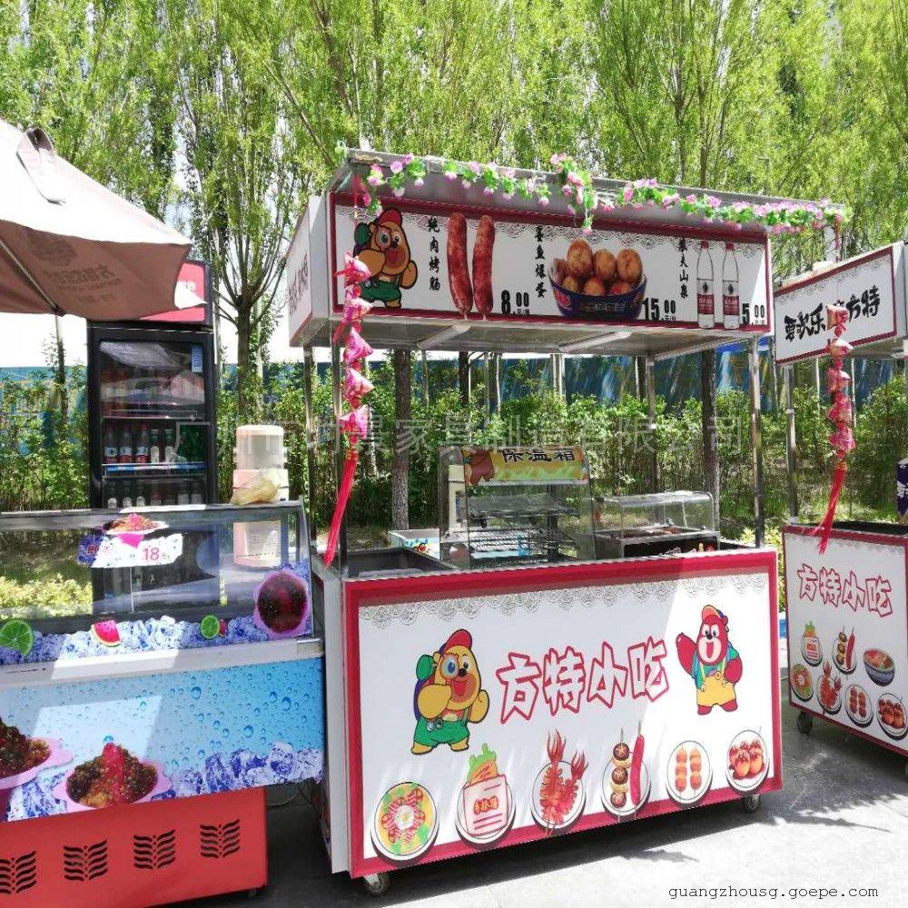 SG时景家具户外售货亭木质售卖亭 售货车流动售卖车奶茶工厂定做