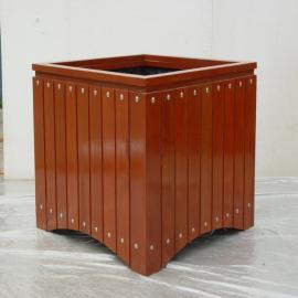 SG时景防腐木花箱户外长方形种植箱阳台室内木质花盆庭院景观花坛