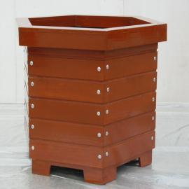 SG时景铝合金花箱pvc道路景观青花瓷种植箱实木可来图定制