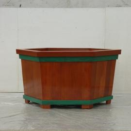 SG时景户外木制花箱,商业街实木种植箱,街道景观商用塑木花箱