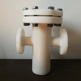 景辰DN200-PP篮式过滤器 大口径塑料提篮过滤器 10-300目GLQ-PP