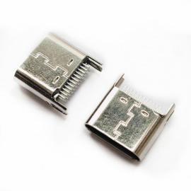 ALT-TYPE-C-24P夹板母座L6.5MM夹板间距0.9mm脚加长2.45mm