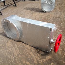 乔达环保挡水渠手动闸板阀 电动手动插板阀 不锈钢或碳钢各种规格
