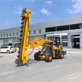 山星机械民房打zhuang工程钻孔机一车多用 铲车式地ji打洞机 路灯杆zhuang机S880